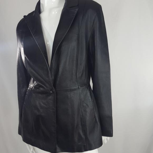 fb4f483cb SIENA Studio black leather jacket size 12